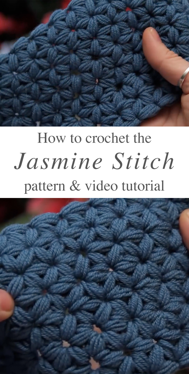 Jasmine Stitch Crochet Pattern Tutorial Creatic